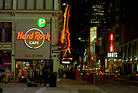 Toronto (ON) CANADA, April 21, 2007<br /> <br /> The Hard Rock Cafe on Yonge Street, at Night<br /> <br />     photo by Pierre Roussel - Images Distribution