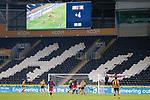 Hull City goalkeeper Matt Ingram prevents an injury time Sunderland winer. Hull 2 Sunderland 2, League One 20th April 2021.