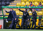16.08.2020 Livingston v Rangers: Steven Gerrard and his coaches try to make some changes from the Rangers bench