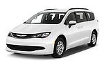 2020 Chrysler Voyager LX 5 Door Minivan Angular Front automotive stock photos of front three quarter view