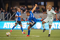 SAN JOSE, CA - SEPTEMBER 4: Oswaldo Alanis #4 of the San Jose Earthquakes watches the ball during a game between Colorado Rapids and San Jose Earthquakes at PayPal Park on September 4, 2021 in San Jose, California.