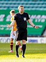 24th April 2021; Easter Road, Edinburgh, Scotland; Scottish Cup fourth round, Hibernian versus Motherwell; Referee John Beaton