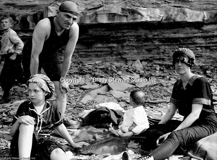 Erie PA:  Stewart's vacationing on Lake Erie with Sarah Stewart's family.  Helen Stewart was just 6 months old when they traveled up to Lake Erie