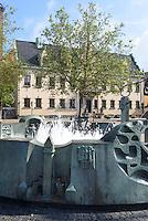 Residenzhaus und Brunnen auf dem Stortorget in Malmö, Provinz Skåne (Schonen), Schweden, Europa<br /> residence and foutain on Stortorget in Malmö, Sweden