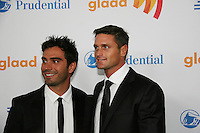 Days of Our Lives and Young & Restless' Reichen Lehmkuhl (R) & Rodney Santiago at the 21st Annual GLAAD Media Awards on March 13, 2010 at the New York Marriott Marquis, New York City, NY. (Photo by Sue Coflin/Max Photos)