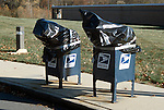 Anthrax-tainted mailboxes in Princeton, New Jersey in Late October, 2001.