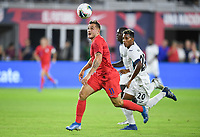 WASHINGTON, D.C. - OCTOBER 11: Jordan Morris #11 of the United States chases down a ball during their Nations League game versus Cuba at Audi Field, on October 11, 2019 in Washington D.C.