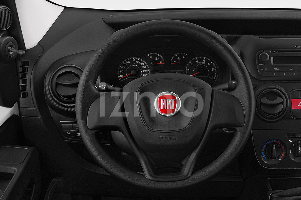 Car pictures of steering wheel view of a 2018 Fiat Fiorino Base 5 Door MPV