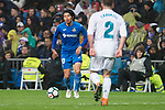 Real Madrid Daniel Carvajal Getafe Gaku Shibasaki during La Liga match between Real Madrid and Getafe CF  at Santiago Bernabeu Stadium in Madrid , Spain. March 03, 2018. (ALTERPHOTOS/Borja B.Hojas)