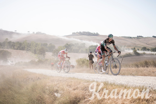 Marcus Burghardt (DEU/BORA-hansgrohe)<br /> <br /> 14th Strade Bianche 2020<br /> Siena > Siena: 184km (ITALY)<br /> <br /> delayed 2020 (summer!) edition because of the Covid19 pandemic > 1st post-Covid19 World Tour race after all races worldwide were cancelled in march 2020 by the UCI