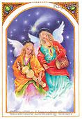 Interlitho-Emilia, HOLY FAMILIES, HEILIGE FAMILIE, SAGRADA FAMÍLIA, paintings+++++,2 angels,music,KL5466,#xr#