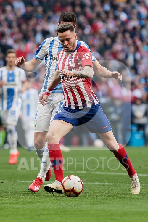 Atletico de Madrid's Saul Niguez during La Liga match between Atletico de Madrid and CD Leganes at Wanda Metropolitano stadium in Madrid, Spain. March 09, 2019. (ALTERPHOTOS/A. Perez Meca)