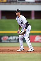 Mesa Solar Sox first baseman Daniel Pinero (26), of the Detroit Tigers organization, during an Arizona Fall League game against the Peoria Javelinas at Sloan Park on October 11, 2018 in Mesa, Arizona. Mesa defeated Peoria 10-9. (Zachary Lucy/Four Seam Images)
