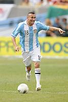 Argentina midfielder Pablo Guinazu (18) The Argentina National Team defeated Brazil 4-3 at MetLife Stadium, Saturday July 9 , 2012.