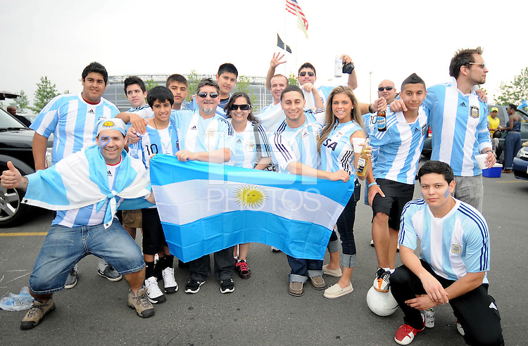 Argentina fans. The Argentina National Team defeated Brazil 4-3 at MetLife Stadium, Saturday July 9 , 2012.