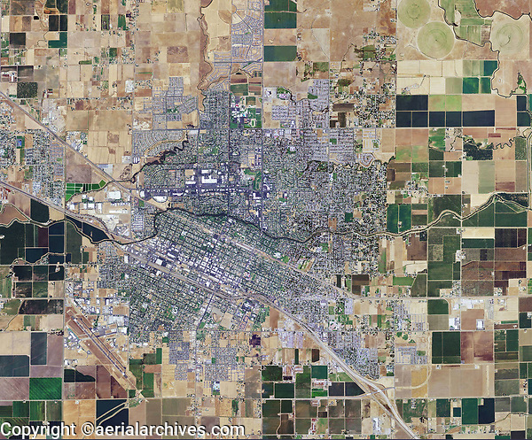 aerial photo map of the City of Merced, Merced County, California