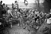 walking up the Koppenberg<br /> <br /> 100th Ronde van Vlaanderen 2016