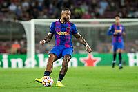 14th September 2021: Nou Camp, Barcelona, Spain: ECL Champions League football, FC Barcelona versus Bayern Munich: 9 Memphis Depay FCBarcelona player in action