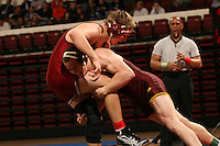 26 February 2006: Stanford's Ryan Hagen during the Pac-10 Wrestling Championships at Maples Pavilion in Stanford, CA.