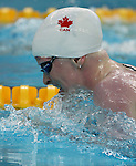Chelsey Gotell of Antigonish, N.S. swims to the gold medal in women's 100 metre individual medley at the swimming finals at the Paralympic Games in Beijing, Friday, Sept., 12, 2008.    Photo by Mike Ridewood/CPC