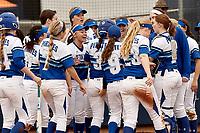 SAN ANTONIO, TX - FEBRUARY 9, 2018: The University of Seton Hall Pirates fall to the Texas A&M University-Corpus Christi Islanders 3-2 at Roadrunner Field. (Photo by Jeff Huehn)