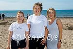 Enjoying Derrymore beach on Saturday, l to r: Deima, Geta and Roma Jurcyte.
