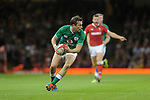Ireland's Jack Carty during the game <br /> <br /> Photographer Ian Cook/CameraSport<br /> <br /> 2019 Under Armour Summer Series - Wales v Ireland - Saturday 31st August 2019 - Principality Stadium - Cardifff<br /> <br /> World Copyright © 2019 CameraSport. All rights reserved. 43 Linden Ave. Countesthorpe. Leicester. England. LE8 5PG - Tel: +44 (0) 116 277 4147 - admin@camerasport.com - www.camerasport.com