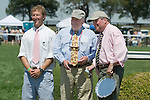 25 Apr 2009: Harold A. Via, Jr (center), owner of Good Night Shirt at the Foxfield Races in Charlottesville, Virginia.