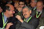 PIERLUIGI BERSANI E MASSIMO D'ALEMA<br /> ASSEMBLEA NAZIONALE PARTITO DEMOCRATICO<br /> FIERA DI ROMA - 2009