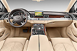 Straight dashboard view of a 2013 Audi A8 L W12 4 Door Sedan 4WD