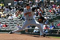 May 26, 2005:  Pitcher Steve Watkins of the Buffalo Bisons during a game at Frontier Field in Rochester, NY.  Buffalo is the International League Triple-A affiliate of the Cleveland Indians.  Photo by:  Mike Janes/Four Seam Images