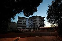 Terremoto de L'Aquila. L'Aquila Earthquake..La casa dello studente.The student's home.