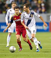 CARSON, CA - March 10,2012: LA Galaxy midfielder Marcelo Sarvas (8) during the LA Galaxy vs Real Salt Lake match at the Home Depot Center in Carson, California. Final score LA Galaxy 1, Real Salt Lake 3.