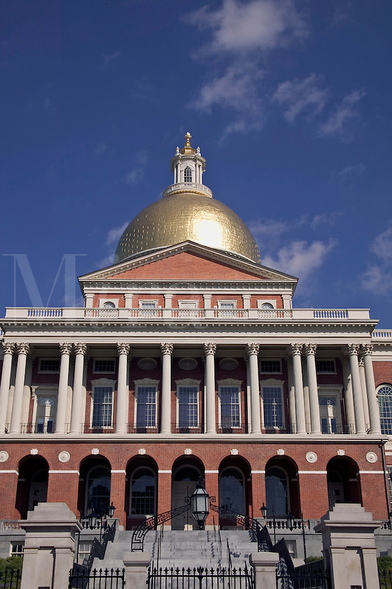 Massachusetts State House on Beacon Hill, Boston, M
