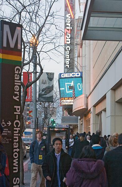 Downtown Verizon Center Washington DC