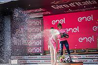 Nairo Quintana (COL/Movistar) is the new Maglia Rosa after stage 19: San Candido/Innichen › Piancavallo (191km)<br /> <br /> 100th Giro d'Italia 2017