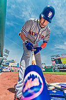 29 April 2017: New York Mets infielder Asdrubal Cabrera prepares his bat while on deck during the first inning against the Washington Nationals at Nationals Park in Washington, DC. The Mets defeated the Nationals 5-3 to take the second game of their 3-game weekend series. Mandatory Credit: Ed Wolfstein Photo *** RAW (NEF) Image File Available ***