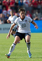 02 June 2013: U.S. Women's National Team forward Abby Wambach #20 in action during an International Friendly soccer match between the U.S. Women's National Soccer Team and the Canadian Women's National Soccer Team at BMO Field in Toronto, Ontario.<br /> The U.S. Women's National Team Won 3-0.
