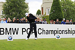 Michale Jonzon (SWE) tees off on the 1st tee to start his round on Day 2 of the BMW PGA Championship Championship at, Wentworth Club, Surrey, England, 27th May 2011. (Photo Eoin Clarke/Golffile 2011)