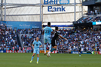 ST PAUL, MN - AUGUST 14: Juan Agudelo #21 of Minnesota United FC and Derrick Williams #3 of the Los Angeles Galaxy go for the ball during a game between Los Angeles Galaxy and Minnesota United FC at Allianz Field on August 14, 2021 in St Paul, Minnesota.