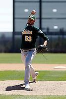 Jon Hunton - Oakland Athletics - 2009 spring training.Photo by:  Bill Mitchell/Four Seam Images