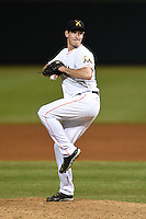 Salt River Rafters pitcher Brian Ellington (49) during an Arizona Fall League game against the Peoria Javelinas on October 17, 2014 at Salt River Fields at Talking Stick in Scottsdale, Arizona.  The game ended in a 3-3 tie.  (Mike Janes/Four Seam Images)
