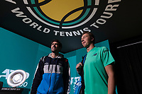 Rotterdam, The Netherlands, 17 Februari 2019, ABNAMRO World Tennis Tournament, Ahoy, Jean-Julien Rojer (NED) / Horia Tecau (ROU), <br /> Photo: www.tennisimages.com/Henk Koster