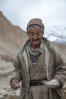 Norboo's father, Wangyul, at Ulley Village in the Ladakh Range