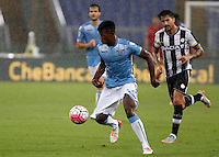 Calcio, Serie A: Lazio vs Udinese. Roma, stadio Olimpico, 13 settembre 2015.<br /> Lazio's Keita Diao, right, is chased by Udinese's Panagiotis Kone during the Italian Serie A football match between Lazio and Udinese at Rome's Olympic stadium, 13 September 2015.<br /> UPDATE IMAGES PRESS/Isabella Bonotto