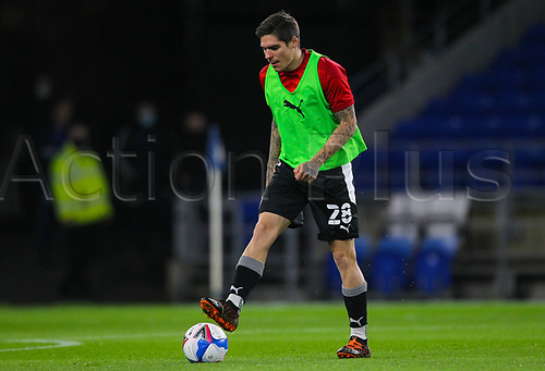 3rd November 2020; Cardiff City Stadium, Cardiff, Glamorgan, Wales; English Football League Championship Football, Cardiff City versus Barnsley; Dominik Frieser of Barnsley warms up before the match