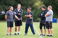 Orlando, FL - Friday Oct. 14, 2016:   Coaching instructor Louis Mateus provides instruction to candidates during a US Soccer Coaching Clinic in Orlando, Florida.