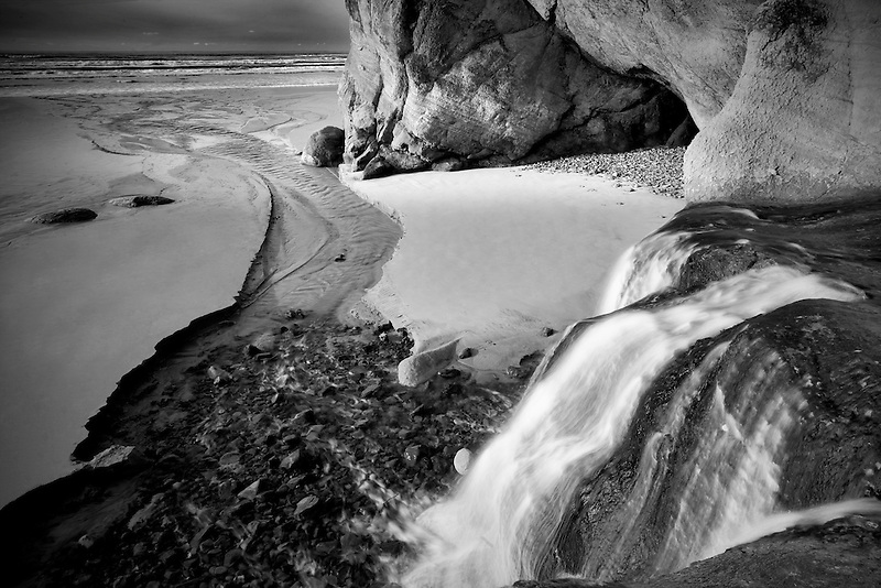 Waterfalls at Hug Point State Park, Oregon