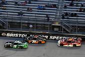 #19: Brandon Jones, Joe Gibbs Racing, Toyota Camry Juniper, #39: Ryan Sieg, RSS Racing, Chevrolet Camaro RSS Racing and #5: Michael Annett, JR Motorsports, Chevrolet Camaro Pilot Flying J
