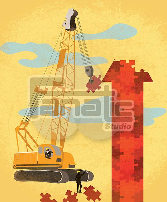 Illustration of business development